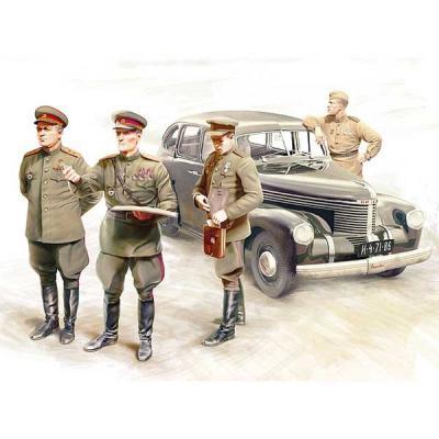 カピテーン サルーン スタッフカー w/ソビエト将校 (1/35スケール IC35477)の商品画像
