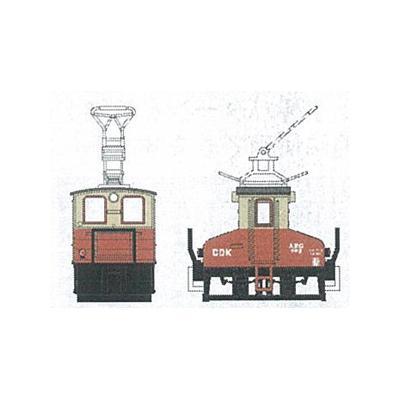 津川洋行 銚子電気鉄道 デキ3 電気機関車(ビューゲル仕様)車体色:赤電色 14042の商品画像