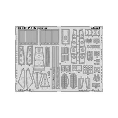 P-51K ムスタング 外装 エッチングパーツ (1/32スケール エッチングパーツ EDU32327)の商品画像