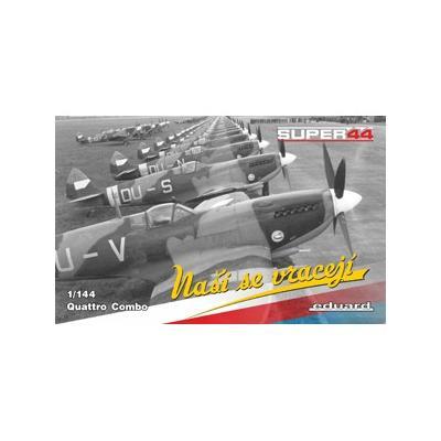 スピットファイア Mk.IX PEパーツ付×4機セット (1/144スケール ウィークエンド EDU4432)の商品画像