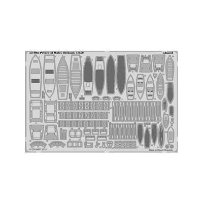 イギリス海軍 戦艦 プリンス オブ ウェールズ 救命筏 カラーエッチングパーツ (1/350スケール カラーエッチングパーツ EDU53092)の商品画像
