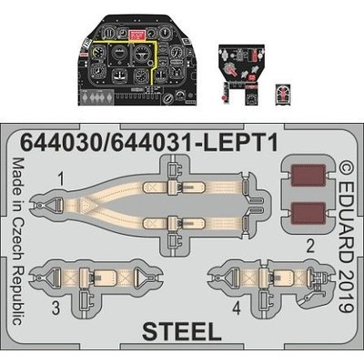 P-51D-10 「ルック」計器盤 (エデュアルド用) (1/48スケール Look(ルック) EDU644030)の商品画像