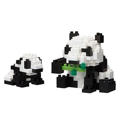 ナノブロック ジャイアントパンダの親子 NBC_236の商品画像
