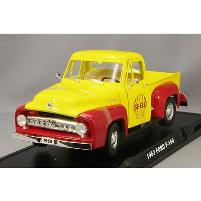 195Ford F-100 Shell Oil with Vintage Shell Gas Pump (1/18スケール 12983)の商品画像