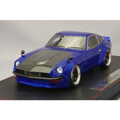 PANDEM 240Z メタリックブルー (カーボンボンネット) 6スポーク ホイール (ブラック) (1/18スケール IDEA(アイデア) IM001B3)の商品画像
