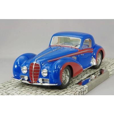 DELAHAYE タイプ 145 V-12 クーペ 1937 ブルー/レッド (1/18スケール MINICHAMPS 107116121)の商品画像