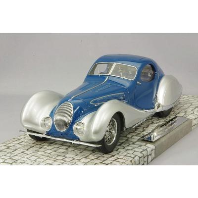 TALBOT LAGO T150-C-SS クーペ 1937 ブルー/シルバー (1/18スケール MINICHAMPS 107117122)の商品画像