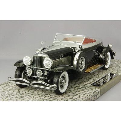 DUESENBERG MODEL J TORPEDO コンバーチブル クーペ 1929 ブラック (1/18スケール MINICHAMPS 107150431)の商品画像