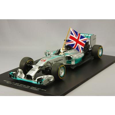 rcedes F1 W05 Hybrid No.44 Winner Abu Dhabi GP 2014 FIA F1 2014 World Champion (with Flag) (1/18スケール 18S159)の商品画像