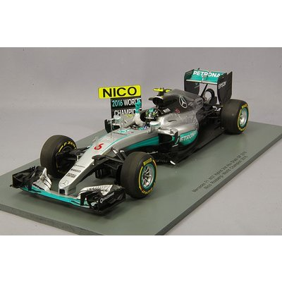 Mercedes FW07 Hybrid No.6 2nd Abu Dhabi GP 2016 Nico Rosberg - World Champion 2016 (1/18スケール 18S250)の商品画像