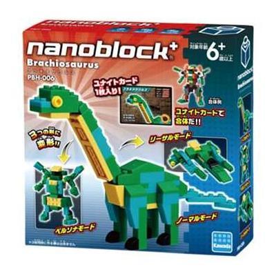 ナノブロックプラス しゅぞくがったいシリーズ ブラキオサウルス PBH-006の商品画像