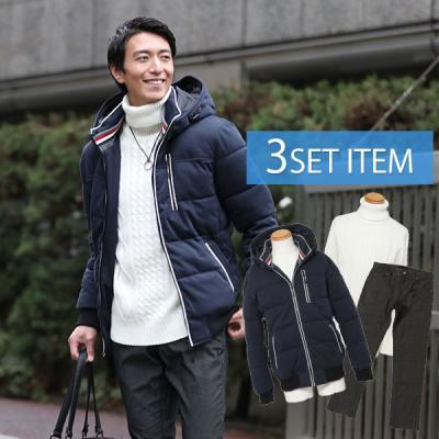 ☆コートセット☆ジャケット×ニット×パンツの3点コーデセット 25