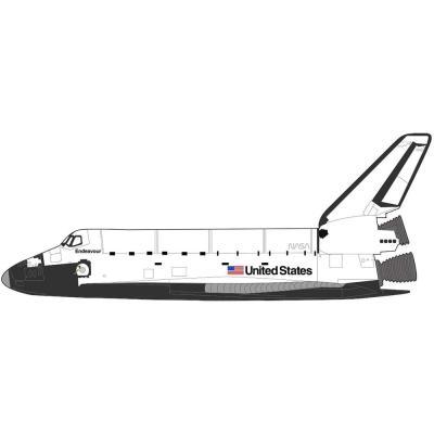 スペースシャトル・オービタ `エンデバー 1998` (1/200スケール HL1404)の商品画像