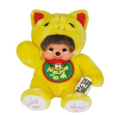 モンチッチ ぬいぐるみ S (幸せを呼ぶ黄色い招き猫モンチッチ) 231775の商品画像