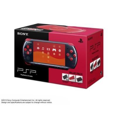 PSP プレイステーション・ポータブル (PSP-3000) バリューパック ブラック/レッドの商品画像