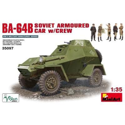 ソビエト BA-64B 装甲車 フィギュア5体入 (1/35スケール MA35097)の商品画像