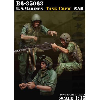 アメリカ 海兵隊戦車兵ベトナム (3体セット) (1/35スケール B6-35063)の商品画像