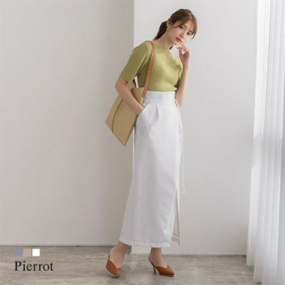 リネン風ラップスカート