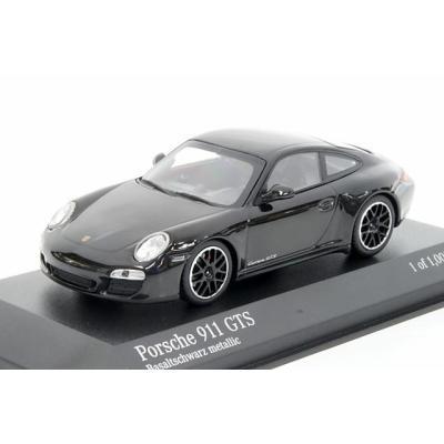 ポルシェ 911 4 GTS (997II) 2011 ブラックメタリック (1/43スケール MINICHAMPS 410060121)の商品画像