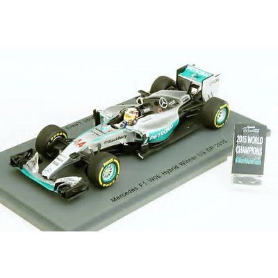 Mercedes W06 No.44 Winner USA GP 2015 World Champion - with Pit Board Lewis Hamilton (1/43スケール S4622)の商品画像