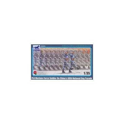 中国 海兵隊 兵士4体 行進シーン (1/35スケール CB35078)の商品画像