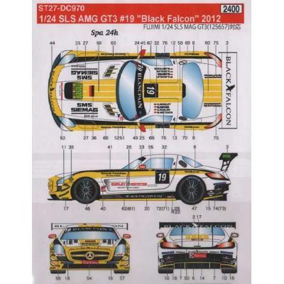 メルセデスベンツ SLS AMG GT3 #19 Black (1/24スケール ST27-DC970)の商品画像