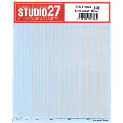 Line decal : Silver (1/20スケール デカール ST27-FP0030)の商品画像