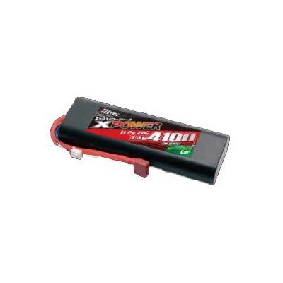 バッテリー XPOWER Li-Po 7.4V 4100mAh 25C for Car XP90081の商品画像