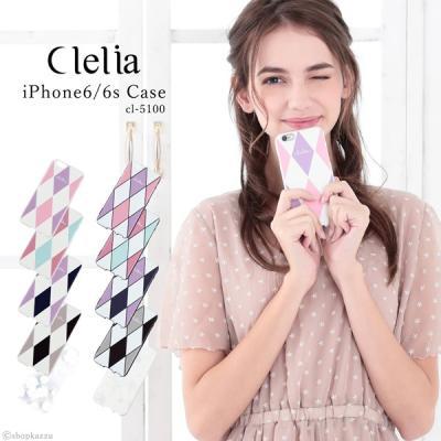 Clelia iPhone6 iPhone6s ケース ダイヤ柄 スマホ ハードケース