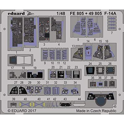 F-14A ズームエッチングパーツ (タミヤ用) (1/48スケール ズーム EDUFE805)の商品画像