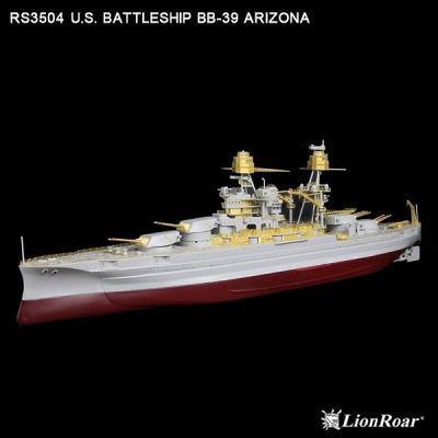 WWII 米海軍 戦艦 BB-39 アリゾナ用 ディテールアップパーツセット H社用 (1/350スケール 艦船用エッチング RS3504)の商品画像