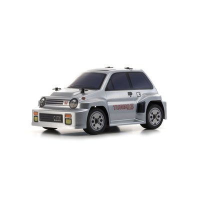 1/24RC Honda シティ ターボ II シルバー ボディシャシーセット (コミックレーサー MB-011) 32253BCSの商品画像