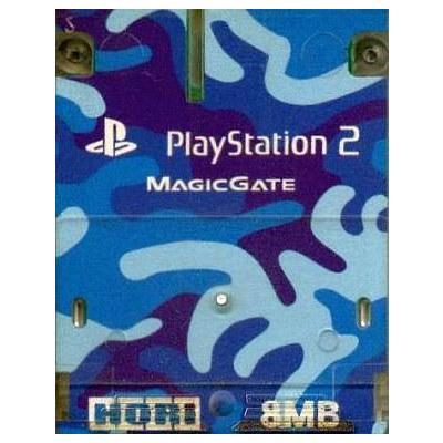 プレイステーション2専用 メモリーカード8MB 迷彩ブルーの商品画像
