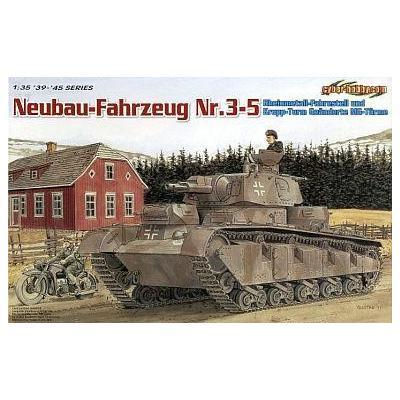WW.II ドイツ軍 ノイバウファール ツォイク 多砲塔戦車 (3-5号車) (1/35スケール グリーンボックス CH6690)の商品画像