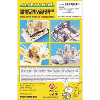 CV-63 キティホーク pt.1 - 艦橋パーツセット トランペッター用 (1/350スケール エッチングパーツ EDU53170)の商品画像