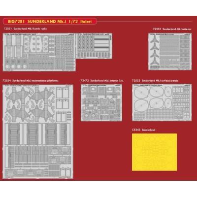 サンダーランド Mk.I アクセサリーパーツアソートセット (1/72スケール BIG ED EDUBIG7281)の商品画像