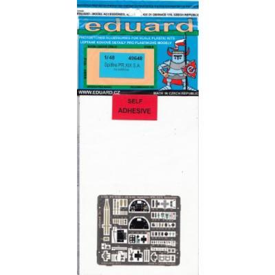 スピットファイア PR. MkXIX 内/外装 カラーエッチングパーツ (接着剤付) (1/48スケール カラーエッチングパーツ EDU49648)の商品画像