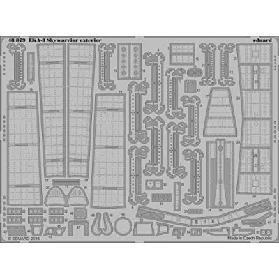 EKA-3 スカイウォリアー 外装パーツセット トランペッター用 (1/48スケール エッチングパーツ EDU48879)の商品画像