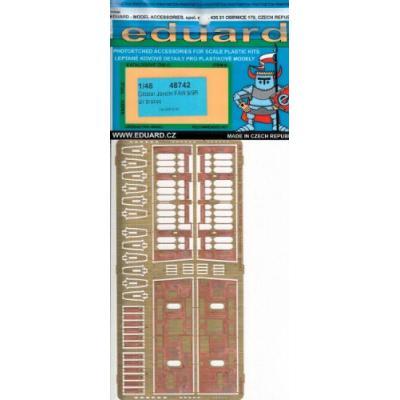グロスター ジャベリン FAW.9用 エアブレーキ (エアフィックス1/48用) (1/48スケール エッチングパーツ EDU48742)の商品画像