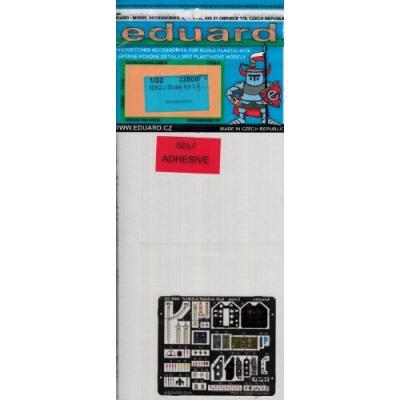 紫電改 パーツセット 糊付き (ハセガワ1/32用) (1/32スケール エッチングパーツ EDU32806)の商品画像
