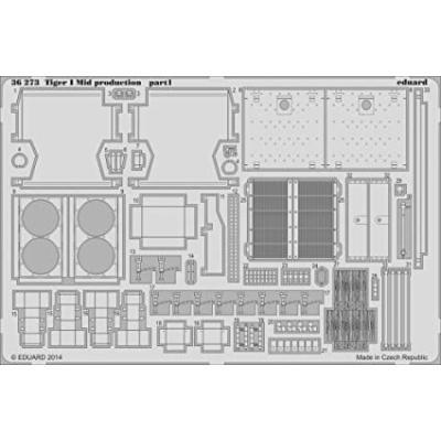 タイガーI 中期型 パーツセット (ドラゴン1/35用) (1/35スケール エッチングパーツ EDU36273)の商品画像