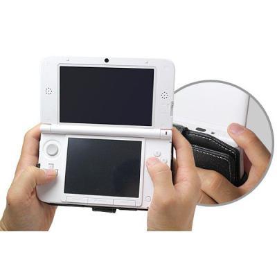 PDAIR レザーケース for ニンテンドー3DS LL 横開きタイプ ブラック PALCN3DSLLB/BLの商品画像