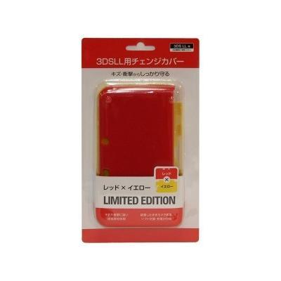 3DSLL用 ポリカーボネート製チェンジカバー レッド×イエローの商品画像
