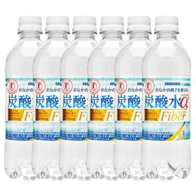 サンガリア トクホ 炭酸水スパークオーα 500ml × 6本 ペットボトルの商品画像