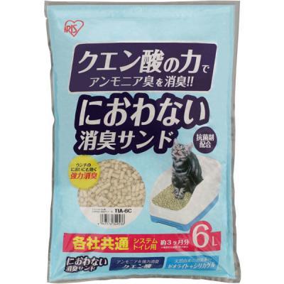 アイリスオーヤマ システム猫トイレ用 におわない消臭サンド クエン酸入り TIA-6C 6L×1個の商品画像