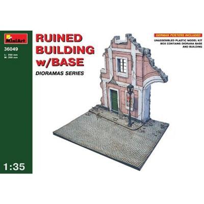 ジオラマベ-ス49 廃墟の建物 (1/35スケール MA36049)の商品画像