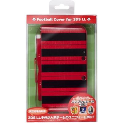 CYBER・フットボールカバー (3DS LL用) ブラック×レッドの商品画像