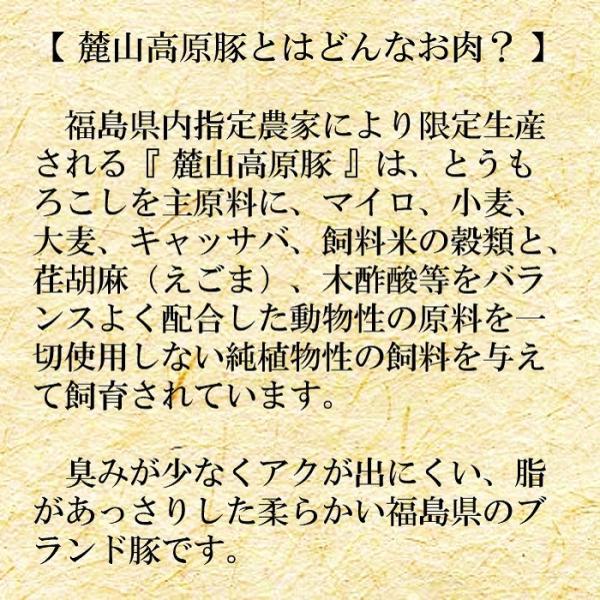 ブランド豚 焼肉 BBQ セット 【 麓山高原豚 】 焼肉 Aセット 1~2人前 (600g) 029yasan 02