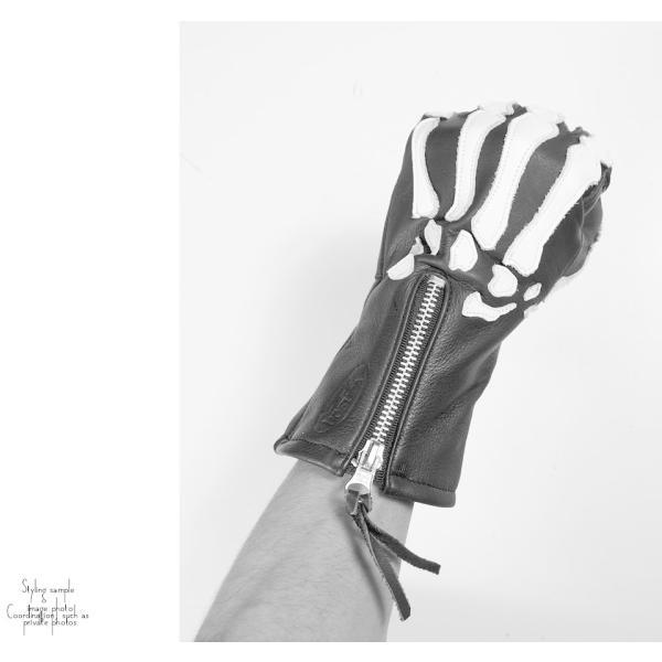バンソン X-Ray カウハイドレザーグローブ スケルトンボーン|02brand|04