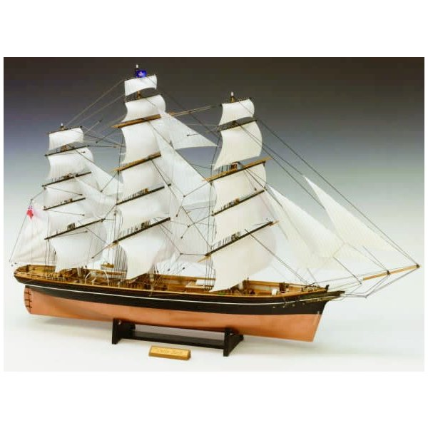 ウッディジョー 木製帆船模型 1/80 カティーサーク 帆付き